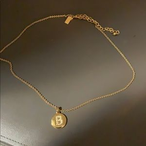 Kate spade jeweled initial necklace B gold